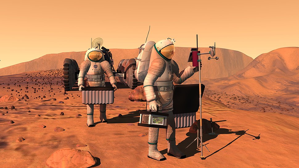 Manned mission to Mars (artist%27s concept)