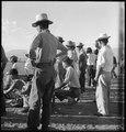 Manzanar Relocation Center, Manzanar, California. Evacuees of Japanese ancestry are enjoying a base . . . - NARA - 538067.tif