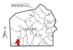 Map of Carroll Valley, Adams County, Pennsylvania