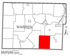 Map of Cherry Grove Township, Warren County, Pennsylvania Highlighted.png