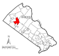 Map of East Rockhill Township, Bucks County, Pennsylvania Highlighted.png