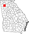 Map of Georgia highlighting Bartow County.svg