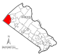 Map of Milford Township, Bucks County, Pennsylvania Highlighted.png