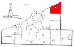 Map of Northeast Township, Erie County, Pennsylvania Highlighted.png