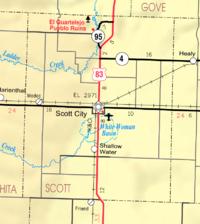 Map of Scott Co, Ks, USA.png