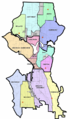 Map of Seattle, divided by districts.png