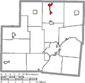 Map of Shelby County Ohio Highlighting Botkins Village.png