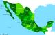 מפת מדינות מקסיקו