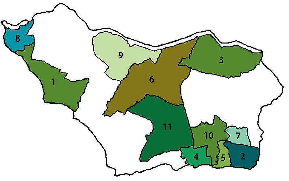 Mapa municipios colonia