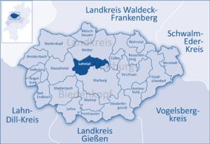 Lahntal - Image: Marburg Biedenkopf Lahntal