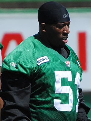 Marcus Adams (Canadian football) - Image: Marcus Adams Riders