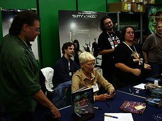 Margaret Weis - Margaret Weis at the Lucca convention in October 2005.