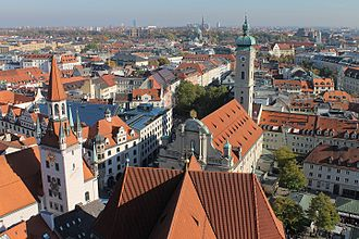 Altstadt-Lehel - View from Altstadt towards Lehel