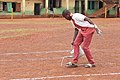 Marking the track section of the Playground of Annunciation Secondary School 01.jpg