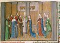 Marriage of Bohemond I and Constance - Chronique d'Ernoul et de Bernard le Trésorier (late 15th C), f.170 - BL Royal MS 15 E I.jpg