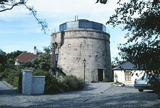 Ali Hewson - The Martello Tower in Bray, adapted as a private residence, where Bono and Ali lived during the 1980s