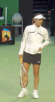 Martina Hingis in the Australian Open, 2006.