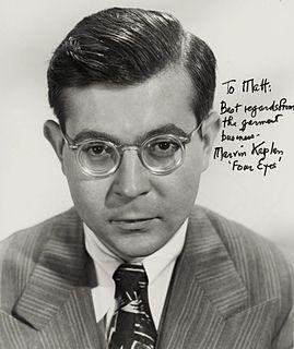 Marvin Kaplan American actor