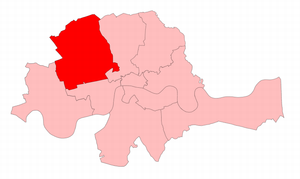 Marylebone (UK Parliament constituency) - Marylebone in the Metropolitan area, showing boundaries used from 1868 to 1885.