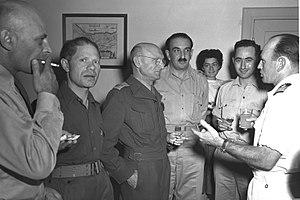 Moshe Tzadok - Moshe Tzadok (2nd from the left), November 9, 1949