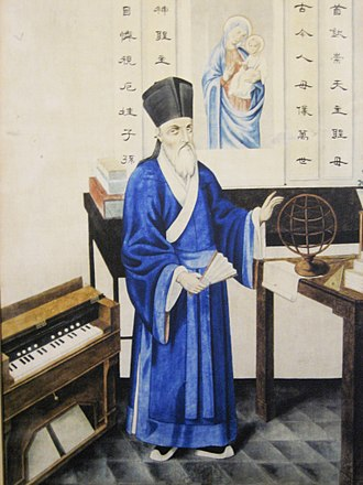 Matteo Ricci - An early 17th-century depiction of Ricci in Chinese robes.