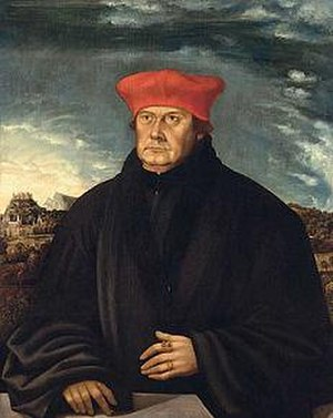 Matthäus Lang von Wellenburg - Cardinal Lang von Wellenburg, oil on parchment, Danube school, early 16th century