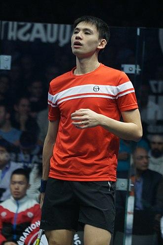 Max Lee - Max Lee at the 2017 Men's World Team Squash Championships