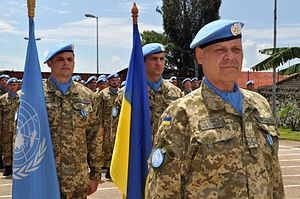 Medal parade Ukrainian aviation unit. DR Congo (26398751024).jpg