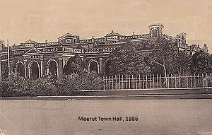 Meerut Municipal Corporation - Image: Meerut Town Hall, 1886