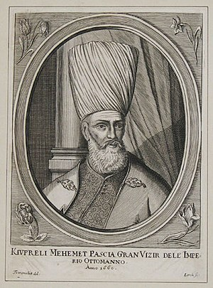 Albanians in Turkey - Köprülü Mehmed Pasha, Grand Vizier of the Ottoman Empire (mid 15th century) and founder of powerful  political Köprülü family dynasty
