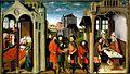 Meister der Ulrichslegende - Drei Szenen aus dem Leben des heiligen Ulrich (Tafel 2), Augsburg.jpg
