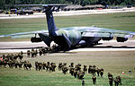 Members of the 82nd Airborne Division board a C-141B Starlifter aircraft for a flight back to Fort Bragg, N.C., at the conclusion of Exercise Ocean Venture '88 DF-ST-88-09709.jpg