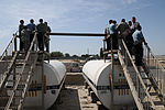 Members of the Kyrgyzstan military tour a petroleum, oils and lubricants fuel farm Aug. 24, 2010, at the Transit Center at Manas, Kyrgyzstan 100824-F-RX342-055.jpg