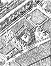 Mercatorplan 1571 ausschnitt kartause