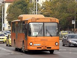 Mercedes O305 bus in Sofia, Bulgaria.jpg