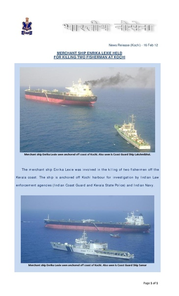 File:Merchant Ship Enrika Lexie held for killing fisherman off Coast of Kochi.pdf