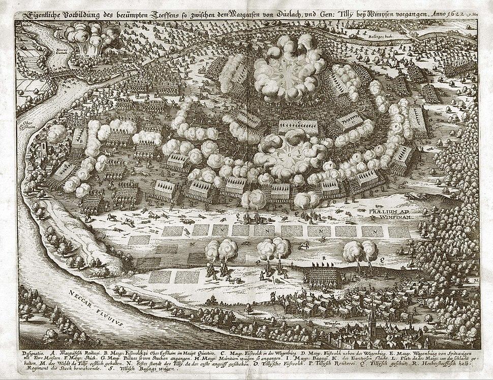 Merian Theatrum Europaeum Schlacht bei Wimpfen 1622