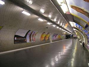 Porte de Vincennes (Paris Métro) - Image: Metro 1 Porte de Vincennes quai