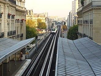 Passy (Paris Métro) - Image: Metro Paris Ligne 6 Station Passy Viaduc