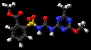 Metsulfuron-methyl - Image: Metsulfuron methyl 3D balls