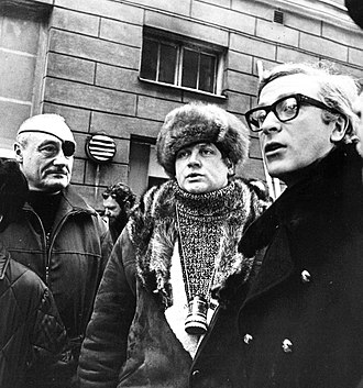 Billion Dollar Brain - André de Toth, Ken Russell and Michael Caine in Helsinki, February 1967, when the shooting begun there.