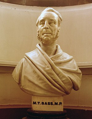 Michael Thomas Bass - Bass' bust in Derby Museum, which he funded.