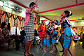 Michelle Obama dances with students of Holy Name High School, Mumbai, 2010.jpg