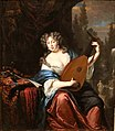 Michiel van Musscher, Portrait of a Lady Playing a Lute (1680).jpg