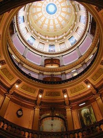 Elijah E. Myers - Image: Michigan capitol dome