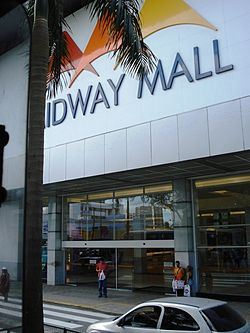 Fachada do shopping Midway Mall.