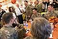 Mike and Karen Pence greets the troops in Erbil Air Base 01.jpg