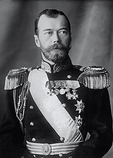 Nicholas II of Russia Tsar of the Russian Empire (reigned 1894–1917); overthrown in the Russian Revolution
