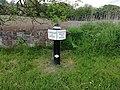 Milepost adjacent to Lock 47, Church Lawton Top Lock.jpg