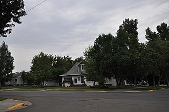 National Register of Historic Places listings in Custer County, Montana - Image: Miles City MT East Main Street Residential HD 1